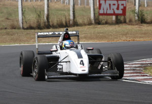 Harrison Newey, winner of Race 1 of MRF Challenge (Feb 18)